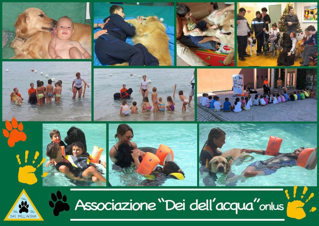 collage Pet therapy - Associazione Dei dell'acqua onlus