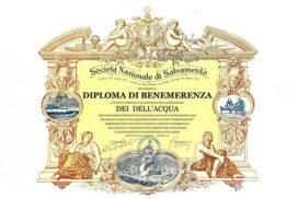 Diploma Associazione Dei dell'acqua